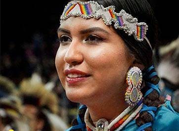 Colorful Dress and Radiant Smiles at  This Year's Festive Native American Powwow