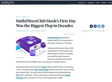 SmileDirectClub IPO Article