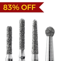 35 Mighty Burs - flat and rounded
