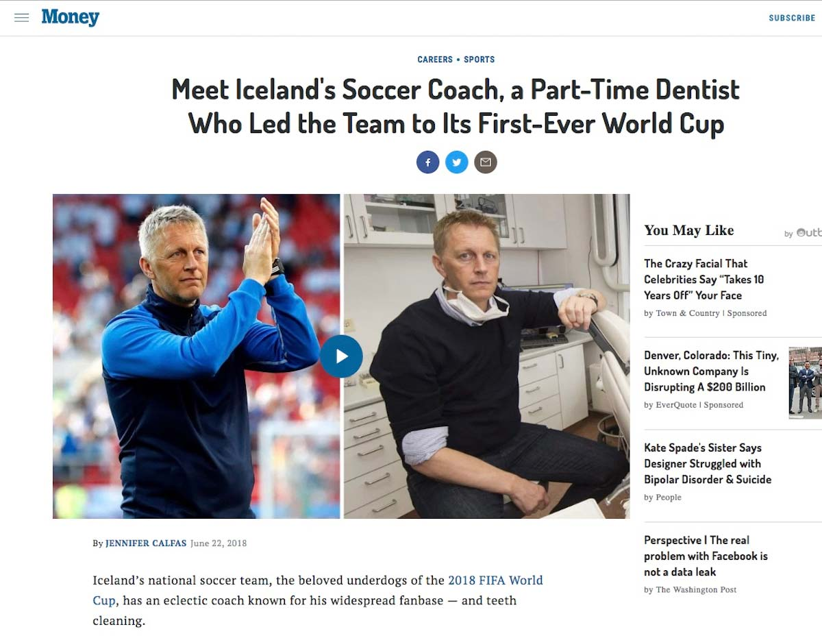 The media coverage of Team Iceland and its coach, Heimir Hallgrímsson, has been extensive.