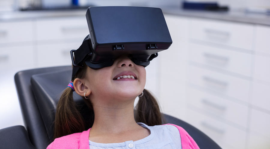 Pediatric patient using virtual reality