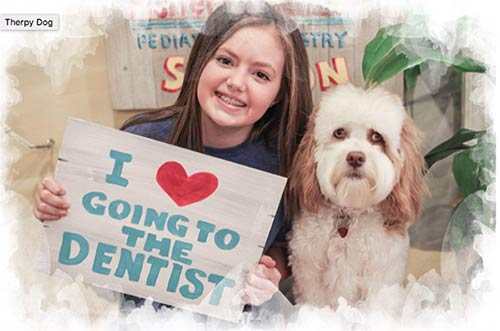Fishers Pediatric Dentistry features Pearly in its marketing materials