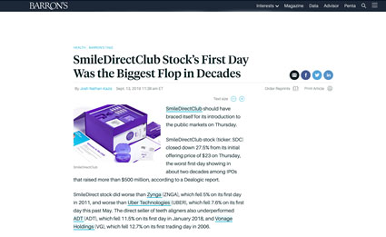 Smile Direct Club IPO Article